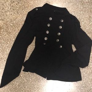 Express Military cotton jacket with big buttons